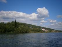 Вид на село Нелькан от реки