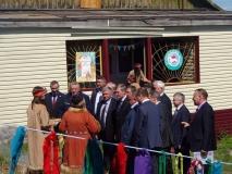 Губернатор Хабаровского края В.И. Шпорт на открытии этно-культурного центра