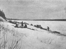 Привал на берегу реки Мая 1903 год