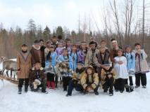 Экскурския нельканских школьников к оленеводам