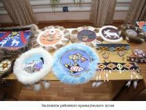 Экспонаты районного краеведческого музея