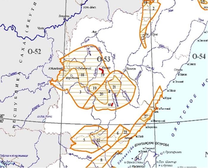 Карта Аяно-Майского района